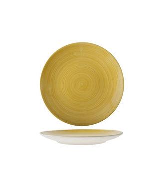 Cosy & Trendy Turbo-Yellow - Dinner plate - D27cm - Ceramic - (set of 6)