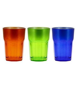 Cerve Medina Water Glass 38cl Set 3 Assorange-green-blue