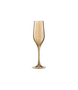 Luminarc Shiny Honey - Champagneglas - Goud - 16cl - (set van 8).