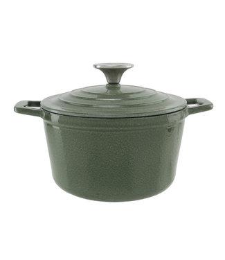 Cosy & Trendy Cooking Pot Shiny Green 1,85l D18xh10cmcast Iron