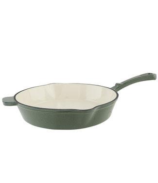 Cosy & Trendy Frying Pan Shiny Green 28.5x43.3xh7.6cmcast Iron