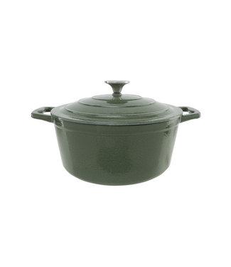 Cosy & Trendy Cooking Pot Shiny Green4,5l D26xh11,5cmcast Iron