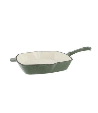 Cosy & Trendy Frying Pan Shiny Green 28.5x42.5xh7.2cmcast Iron