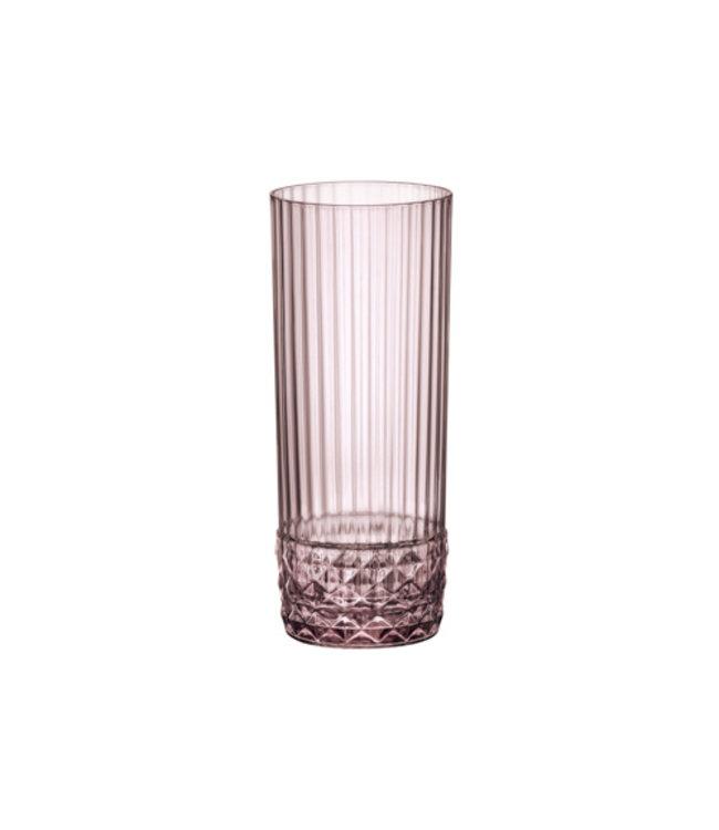 Bormioli America'20s Lilac Rose Longdrink Set 640cl D6.8xh15.8cm