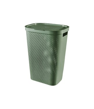 Curver Infinity Recycled Wasbox Dots 60l Groen44x35xh60cm