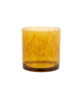 Cosy @ Home Tealight Holder Bunny Yellow 10x10xh12,5cm Glass (set of 6)