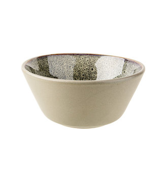 Cosy & Trendy Oona-Sand-Green - Bowl - D15xh7cm - Ceramic - (Set of 6)