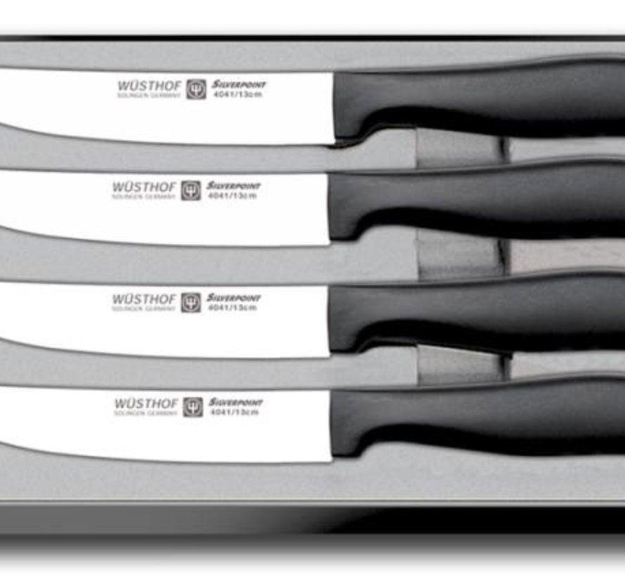 SILVERPOINT 4-teiliges Steakmesserset - 9634
