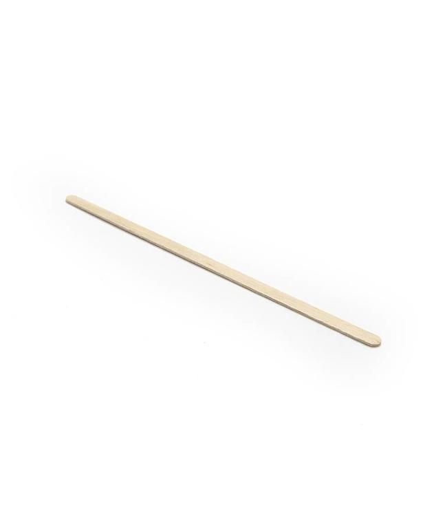 Houten spatels wenkbrauwen - 100 stuks