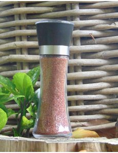 NATURAL BIO STORE Finest Selection Red Hawaiian salt, Salt Grinder 205g