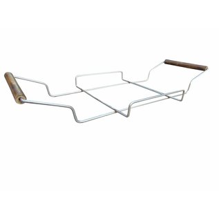 NATURAL BIO STORE Finest Selection Himalayan Salt Block 30x20x3,8cm including metal frame with handles.