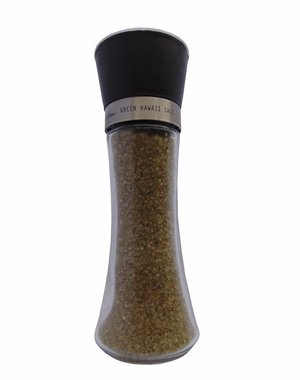NATURAL BIO STORE Finest Selection Salt Grinder Green Hawaiian Salt 200g