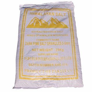 NATURAL BIO STORE Finest Selection Sac Sel Rose de l'Himalaya gros cristaux 25kg (2-5mm)