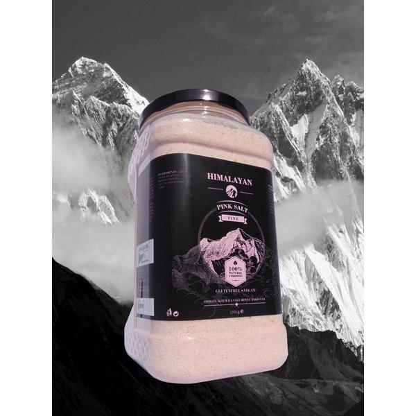NATURAL BIO STORE Finest Selection Fine Pink Himalayan Salt 1700 grams, Reusable plastic jar