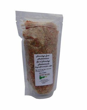 NATURAL BIO STORE Finest Selection Pink Himalayan salt Mediterranean 450g