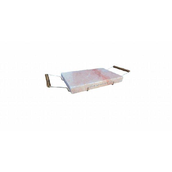 NATURAL BIO STORE Finest Selection Planche à Sel de l'Himalaya 30 * 20 * 3,8cm avec support en métal avec poignées.