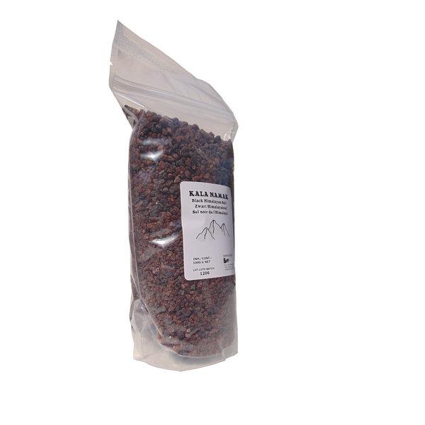 """NATURAL BIO STORE Finest Selection Black Himalayan Salt """"Kala Namak"""" (coarse 3-5mm) 1000 grams"""
