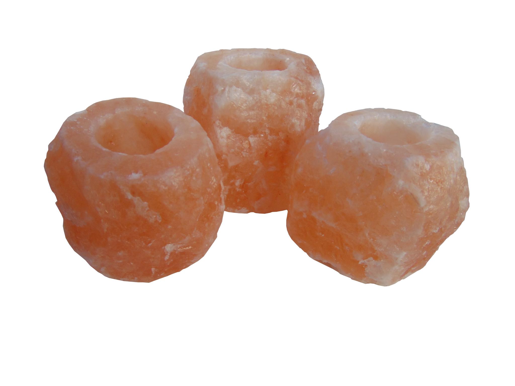 Bougeoir en Cristal de Forme Naturelle Porte-Bougie Chauffe-Plat au sel de Roche Rose Authentique Myga Bougeoir Chauffe-Plat au sel de lHimalaya