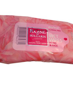 ROSE OF BULGARIA Lingettes Humides antibactériennes Hands & Face (Sans alcool)