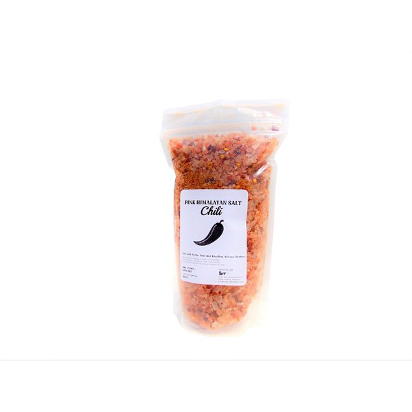NATURAL BIO STORE Finest Selection Pink Himalayan salt with Herbs, Chili 450 grams (resealable bag)