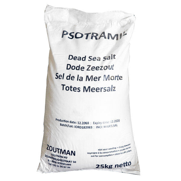 NATURAL BIO STORE Finest Selection Sel de la mer Morte, Sac de 25kg