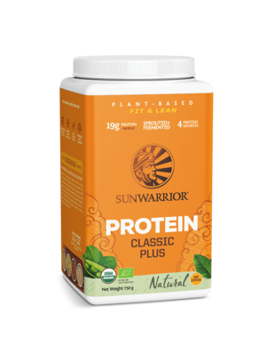 SUNWARRIOR SUNWARRIOR Proteïne Poeder Classic Plus Natural 750g Bio & Vegan
