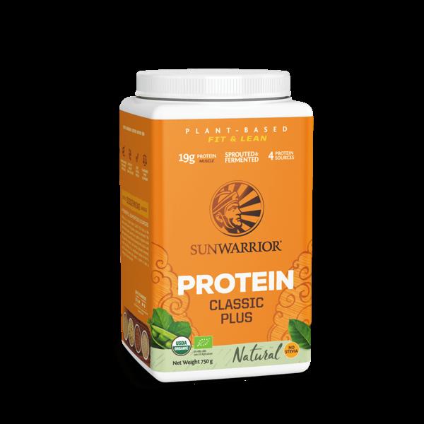 SUNWARRIOR SUNWARRIOR Proteïne Poeder *Classic Plus Natural 750 gram ✔Bio, Vegan, Glutenvrij, Lactosevrij
