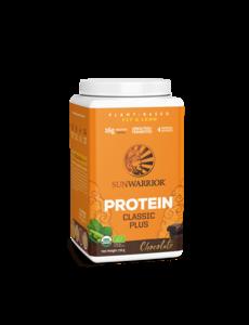 SUNWARRIOR Protéine en Poudre Classic Plus Chocolat 750g Bio & Vegan