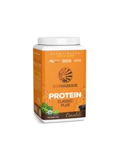 SUNWARRIOR SUNWARRIOR Proteïne Poeder Classic Plus Chocolade 750g Bio & Vegan