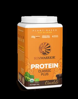 SUNWARRIOR Proteïne Poeder Classic Plus Chocolade 750g Bio & Vegan