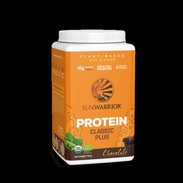 SUNWARRIOR SUNWARRIOR Classic Plus Chocolat *Protéine en Poudre 750 g ✔Vegan, Sans Gluten, Sans Lactose