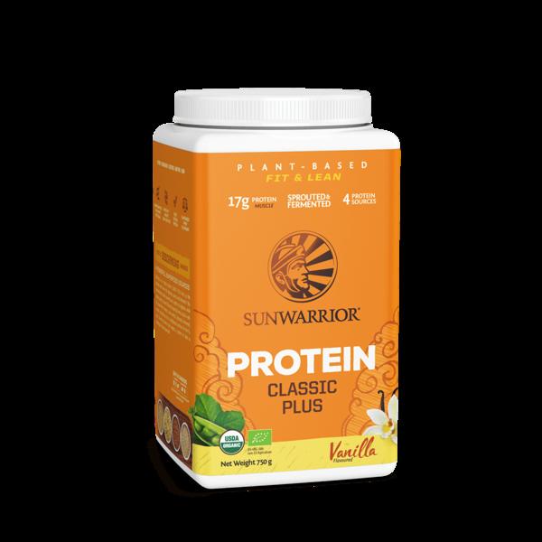 SUNWARRIOR SUNWARRIOR Protein Powder Classic Plus Vanilla 750g ✔Organic, Vegan, No Gluten, No Lactose