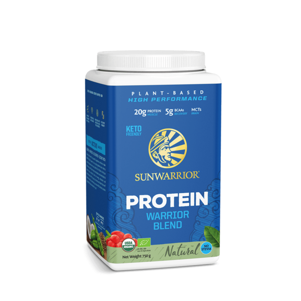 SUNWARRIOR SUNWARRIOR Warrior Blend Protéine en Poudre Naturel 750 grammes ✔Bio, Vegan, Sans Gluten, Sans Lactose