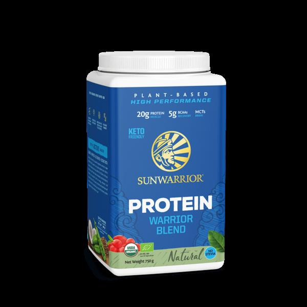 SUNWARRIOR SUNWARRIOR Warrior Blend Proteïne Poeder  Natural 750 gram ✔Bio, Vegan, Glutenvrij, Lactosevrij
