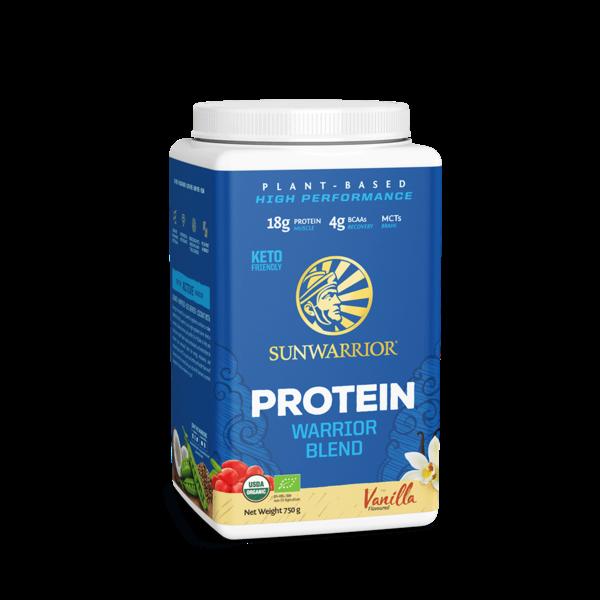 SUNWARRIOR SUNWARRIOR Warrior Blend Proteïne Poeder Vanille 750 gram ✔Bio, Vegan, Glutenvrij, Lactosevrij