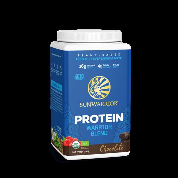 SUNWARRIOR SUNWARRIOR Warrior Blend Protéine en Poudre Chocolat 750g ✔Bio, Vegan, Sans Gluten, Sans Lactose