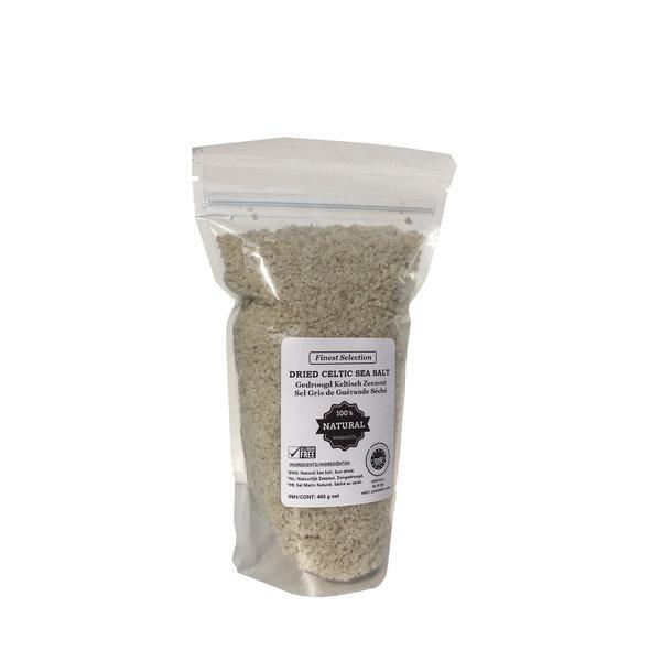 NATURAL BIO STORE Finest Selection Keltisch Zeezout (Guérande) ⭐Grof & Gedroogd, 400 gram