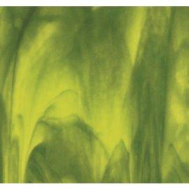2121-000 yellow opal, deep forest green 3 mm