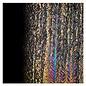 0100-025 black, herringbone ripple, irid, rbow 3 mm