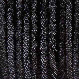 0100-022 black, herringbone ripple 3 mm