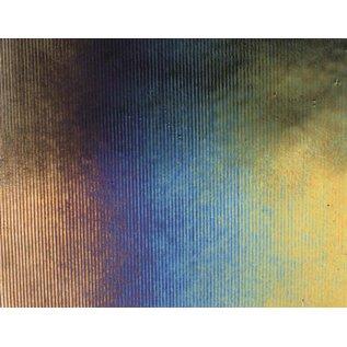 0100-054 black reed thin, irid, rbow 2 mm