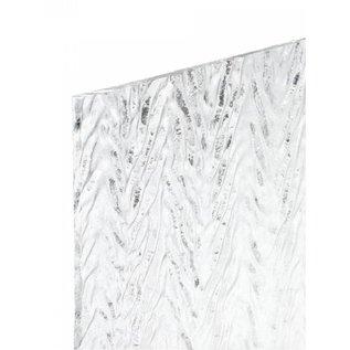 1101-022 clear, herringbone ripple 3 mm