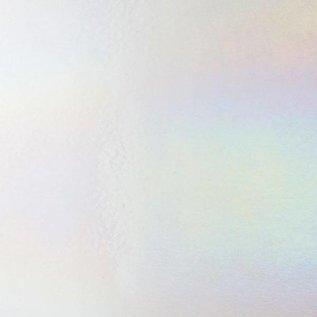 0113-031 white, dbl-rol, irid, rbow 3 mm