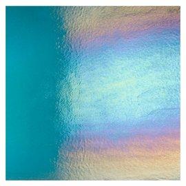 1108-031 aquamarine blue, dbl-rol, irid, rbow 3 mm