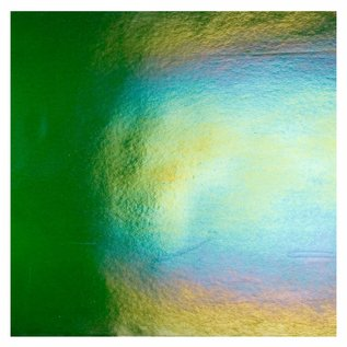 1112-031 aventurine green, dbl-rol, irid, rbow 3 mm