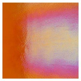 1125-031 orange, dbl-rol, irid, rbow 3 mm