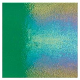 1417-031 emerald green, dbl-rol, irid, rbow 3 mm