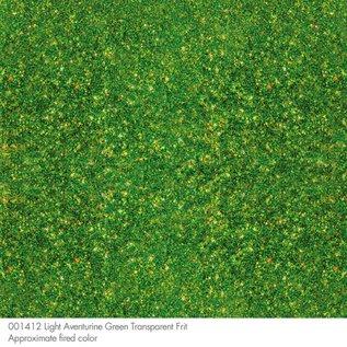 1412 frit light aventurine green medium 110 gram