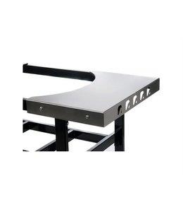 PrimoGrill RVS zijtafels voor cart Ovaal Large