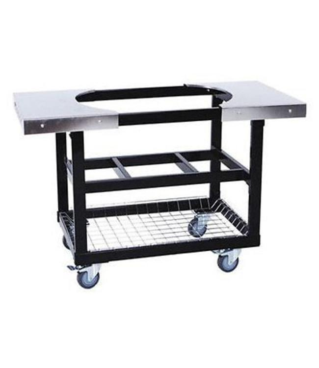PrimoGrill Cart met mand Ovaal XL met RVS zijtafels